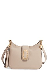 Marc Jacobs Small Interlock Leather Hobo Beige Taupe