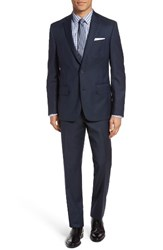 Nordstrom Men's Men's Shop Trim Fit Check Wool Suit Navy