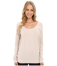 Lole Orchid Top Silver Gray Women's Long Sleeve Pullover