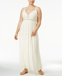 American Rag Trendy Plus Size Tiered Maxi Dress Only At Macy's Egret