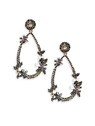 Cara Pear Shaped Drop Earrings Antique Gold