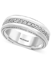 Effy Men's White Sapphire Band 1 Ct. T.W. In Sterling Silver