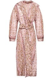 Emilia Wickstead Woman Snake Print Shell Trench Coat Animal Print