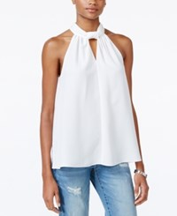 Rachel Roy Draped Keyhole Halter Top Only At Macy's Eggshell