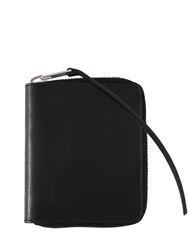 Rick Owens Small Zip Around Leather Wallet