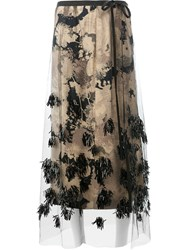 Dries Van Noten Net Detail Skirt Women Viscose 40 Nude Neutrals