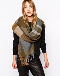 Esprit Cosy Check Blanket Scarf Realolive