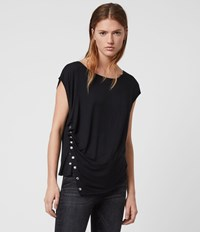 Allsaints Hatti Short Sleeve T Shirt Black