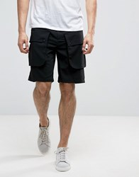 Kiomi Cargo Short With Front Combat Pockets Black