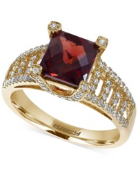 Effy Collection Effy Garnet 2 1 5 Ct. T.W. And Diamond 3 8 Ct. T.W. Ring In 14K Gold