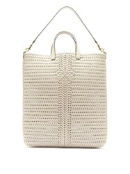 Anya Hindmarch Neeson Woven Leather Tote Bag Cream