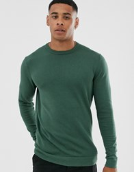 Only And Sons Crew Neck Jumper In Green