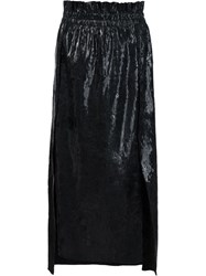 Sonia Rykiel Coated Midi Skirt Black