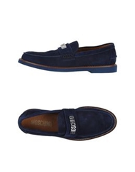 Moschino Moccasins Dark Blue