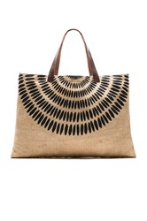 The Beach People X Revolve Jute Tulum Bag Tan