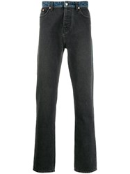 Zadig And Voltaire Contrasting Straight Leg Jeans Grey