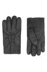 Topman Men's Faux Shearling Gloves