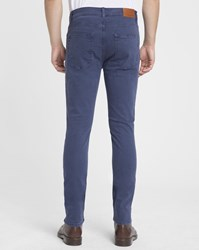 Knowledge Cotton Apparel Blue 5 Pockets Organic Slim Fit Trousers
