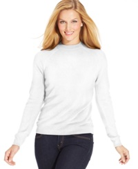Karen Scott Long Sleeve Mock Turtleneck Sweater