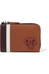 Emilio Pucci Striped Leather Wallet Brown