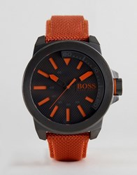 Boss Orange By Hugo New York Watch With Strap Orange
