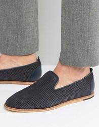 Hudson H By Vista Suede Loafers Navy