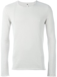 Label Under Construction Slanted Seam Jumper Nude And Neutrals