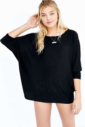 Silence And Noise Silence Noise Night Owl Dolman Sleeve Top Black