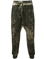 11 By Boris Bidjan Saberi Drop Crotch Sweatpants Green