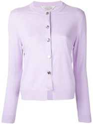 Torrazzo Donna Crew Neck Cardigan Women Acrylic One Size Pink Purple