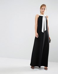 Ted Baker Hilarny Maxi Column Dress With Bow Front Black