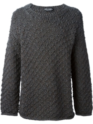 Dolce And Gabbana Chunky Knit Sweater Grey