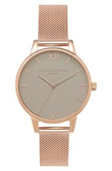 Olivia Burton Women's Midi Dial Mesh Strap Watch 30Mm