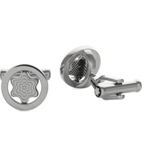 Montblanc Iconic Swivel Star Cufflinks Silver