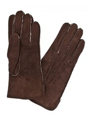 Dents Brown Shearling Gloves