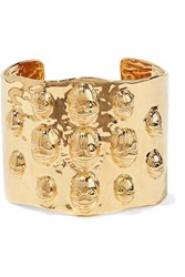 Aurelie Bidermann Concorde Gold Plated Cuff One Size