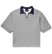 Fear Of God Contrast Trimmed Loopback Cotton Blend Jersey Polo Shirt Gray