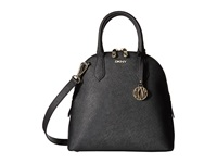 Dkny Bryant Park Saffiano Medium North South Round Satchel W Detachable Shoulder Strap Black Satchel Handbags