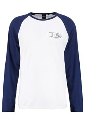 Deus Ex Machina Heavy Long Sleeved Top White Navy Off White