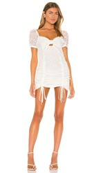 Kendall Kylie Travel Front Tie Dress In White.