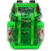 Gucci Green Clear Flowers Backpack