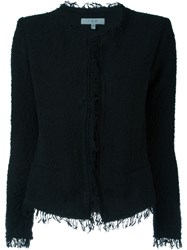 Iro Fringed Boucle Jacket Black