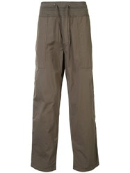 James Perse Drawstring Waist Straight Leg Cargo Pants Brown