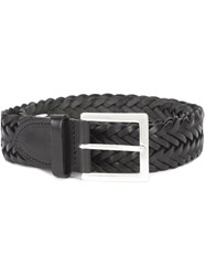 Rag And Bone Interlaced Leather Belt Black