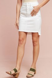 Anthropologie Level 99 Raw Hem Denim Skirt White