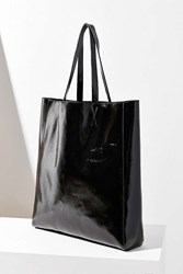 Urban Outfitters Patent Faux Leather Tote Bag Black