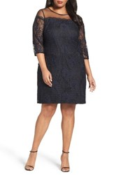 Adrianna Papell Plus Size Women's Adele Lace Shift Dress