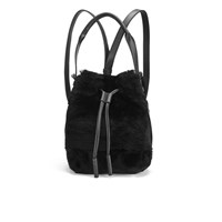 Opening Ceremony Women's Shearling Mini Izzy Backpack Black