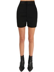 Haider Ackermann High Waist Wool Shorts Black