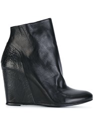 The Last Conspiracy Wedge Ankle Boots Black